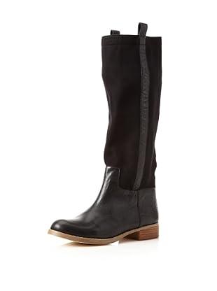 Matt Bernson Women's Roper Flat Long Boot (Black)
