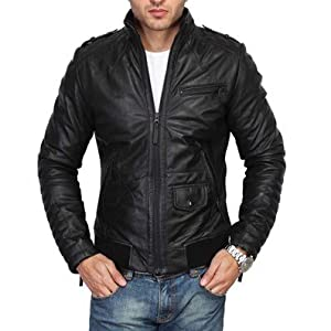 Black Slim Fit Biker Jacket