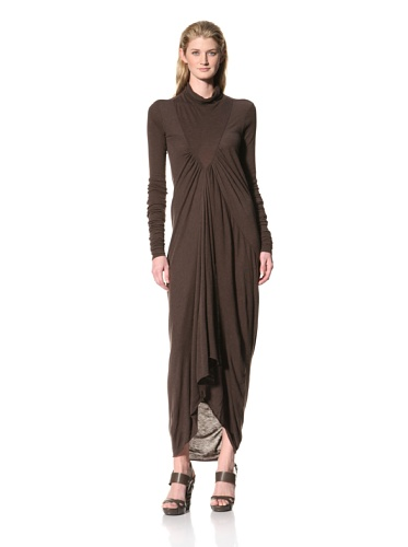 RICK OWENS Women's Long Turtleneck Dress (Bitter)