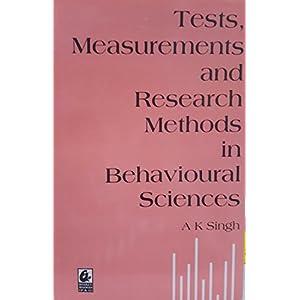 Tests Measurements And Research Methods In Behavio PB