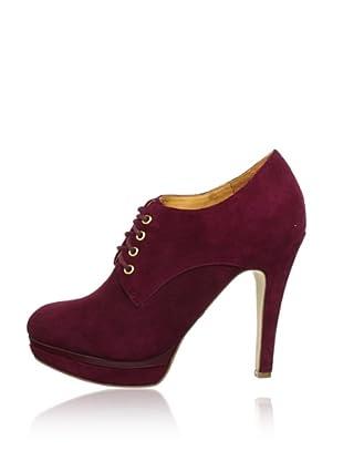 Buffalo London 112-1283 KID SUEDE 141385 - Botines de cuero  mujer (Rojo)