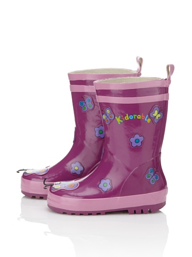 Kidorable Butterfly Rain Boot (Toddler/Little Kid) (Purple)