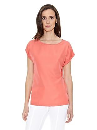 Cortefiel Camiseta Lisa (Coral)
