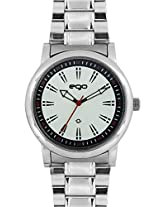 Maxima Ego Analog White Dial Men's Watch - E-33782CAGC