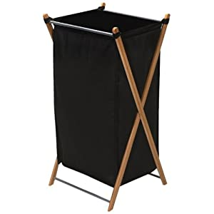 Household Essentials Bamboo Laundry Hamper, Brown