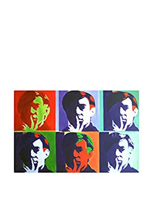 LegendArte Pintura al Óleo sobre Linezo Mosaico Di Volti 60X90