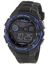 Armitron Sport Men's 40/8240BLU Black Resin Metalic Blue Bezel Chronograph Watch