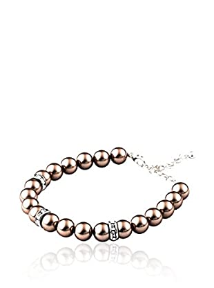 SWAROVSKI ELEMENTS Pulsera Pearls Bronce