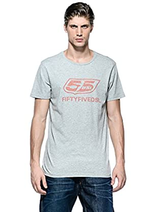 55Dsl Camiseta Thenewlogo (Gris)