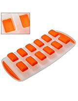 1x Ice Cube Mold Ice Tray Silicone Bottoms Soft Easy Ice Removal Mold Freezer