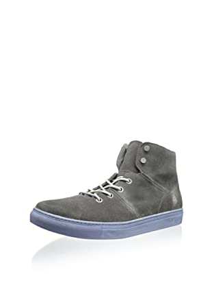 Andrew Marc Men's Mullberry Mid Top Sneaker (Dark Lead/White)