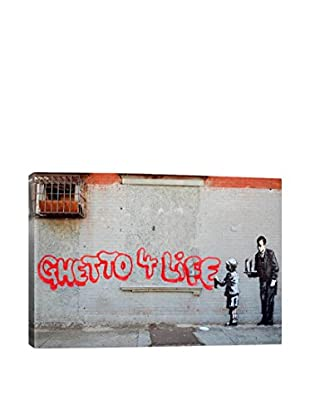 Banksy Ghetto 4 Life Gallery Wrapped Canvas Print
