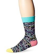 Happy Socks Men's Electric Camo Combed Cotton Crew Socks