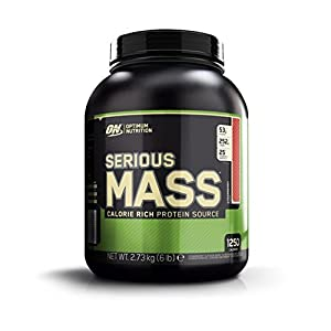 Optimum Nutrition (ON) Serious Mass - 6 lbs (Strawberry)