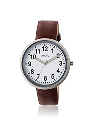 Multi Women's SIM2601 The 2600 Dark Brown/White Leather Watch