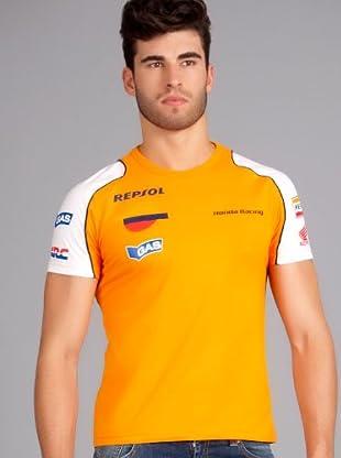 Gas Camiseta Helvis (Naranja / Blanco)