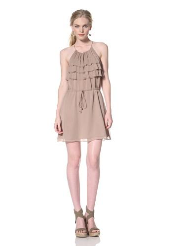 Dolce Vita Women's Magnuson Ruffled Mini Dress (Nude)