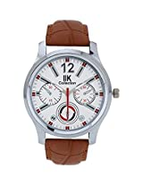 Iik Collection Analogue White Dial Men's Watch-Iik507M