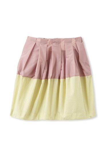 kicokids Girl's 2-Texture Parachute Tulip Skirt (Potpouri/Citrus)