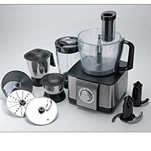 Morphy Richards Icon DLX 1000 W Food Processor (Steel Black)