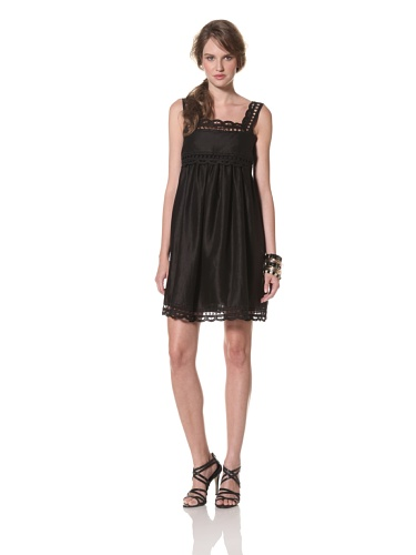COLLETTE BY COLLETTE DINNIGAN Women's Cutout Embroidered Dress (Black)