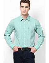 Green Full Sleeves Casual Shirts Allen Solly