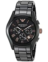 Emporio Armani Men's AR1410 Ceramica Analog Display Analog Quartz Black Watch
