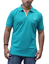 Romano Men's Cotton Polo Blue