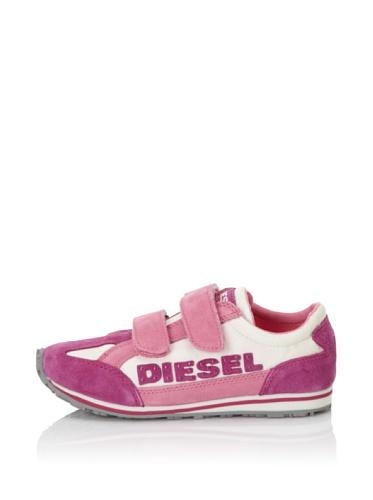 Diesel Kids Ice Cool Dsl Strap Sneaker (Festival Fuchsia/Light Ecru)