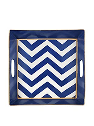 Jayes Chevron Square Tray, Navy