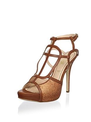 Jerome C. Rousseau Women's Park Platform Sandal (Glitter Copper/Brown)