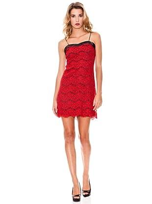 Poète Vestido De Gasa Feline (Rojo)