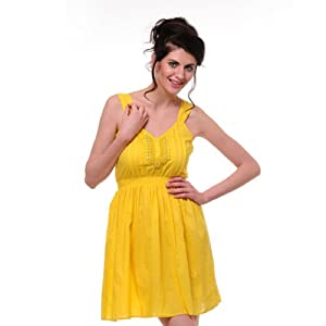 Yepme Gloriann Bright Yellow Summer Dress