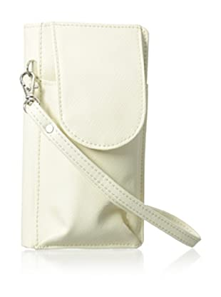 Morelle & Co. Bethany Saffiano Leather Cell Phone Wallet/Wrislet, Cream