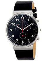 Skagen Ancher Chronograph Black Dial Men's Watch - SKW6100