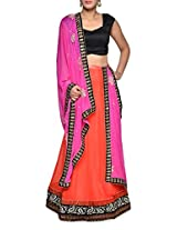 Luxe orange and magenta bridal lehenga set