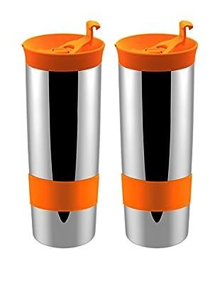 asobu Set of 2 Hot Coffee & Tea Press, Orange