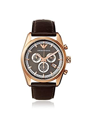 Emporio Armani Men's AR6005 Brown/Brown Leather Watch