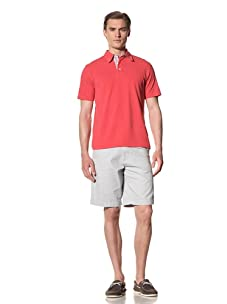 Report Collection Men's Pique Polo Shirt (Red)