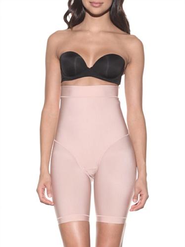 Nearly Nude Women's Firming Microfiber High Waist Thigh Slimmer (Rose Mist)