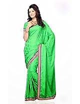 Shariyar Parrot Green Jacquard Saree PRG331