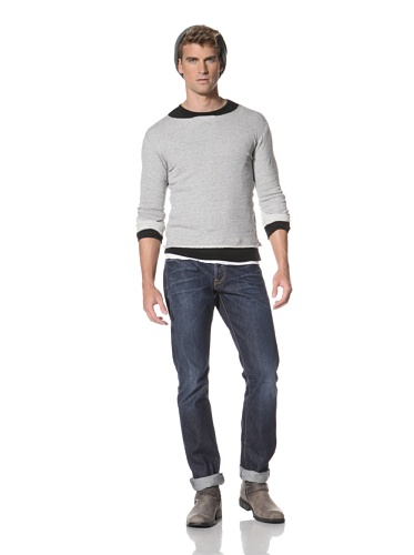 R13 Men's Long Sleeve Pullover (Grey Heather)