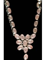 Rose Quartz Necklace - Sterling Silver