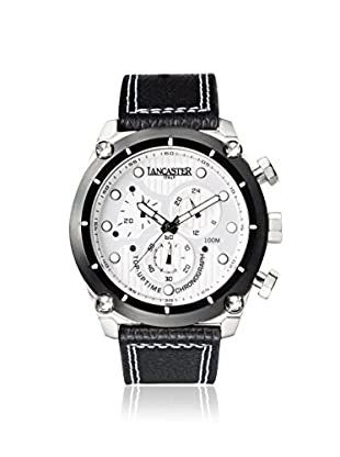 Lancaster Men's OLA0380L/BN Top Up Time Black/White Stainless Steel Watch