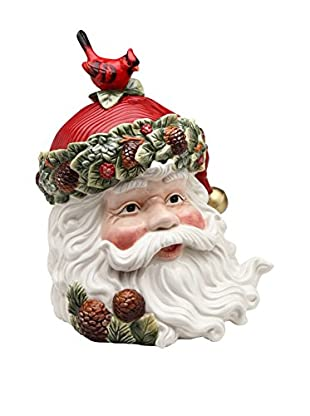 Cosmos Evergreen Holiday Santa Cookie Jar