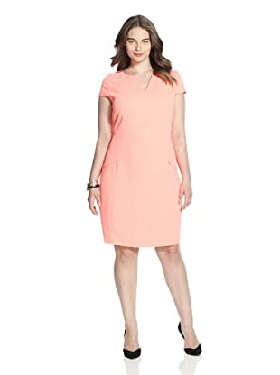T Tahari Women's Christina Dress (Tangerine Blast)