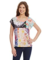 United Colors Of Benetton Women's Floral T-Shirt