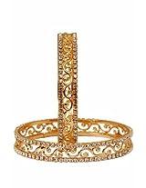 Jewbang Gold Plated Bangle Set For Women-JB523A