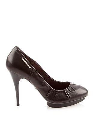 Fornarina - Zapatos de cuero para mujer (Negro)