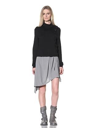 Ann Demeulemeester Women's Side Button Sweater (Black)